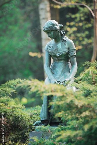 Fotografie, Obraz  Statue of Cinderella (Cendrillon) at Josaphat Park Brussels
