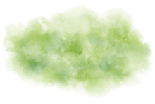 Watercolor Background. Vector Texture With Green Shades. Perfect For Tropical Backdrop Or Another Nature Creation. Hand Painted.
