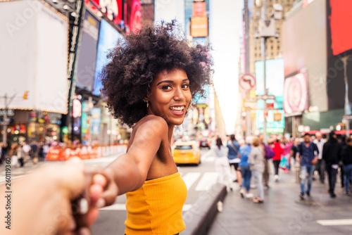 Stampa su Tela  Beautiful woman in New York