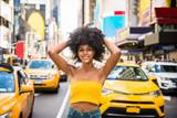 Fototapeta New York - Beautiful woman in New York