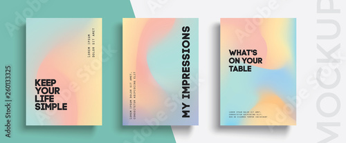 Obraz Modern trendy background cover posters, banners, flyers, placards. Minimal banner design set for electro concert.  - fototapety do salonu
