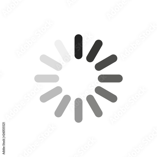Fotografie, Obraz Loading circle sign. Vector. Isolated.
