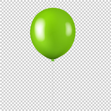 Green Balloon Isolated Transparent Background