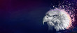 Eagle painting background, violet
