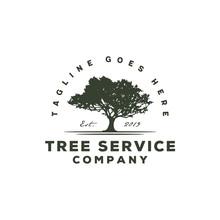 Tree Service / Residential Landscape Vintage Logo Design
