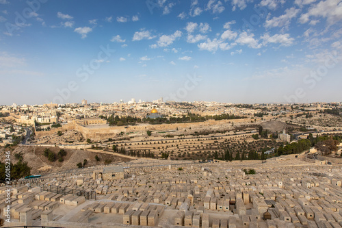 Fotografía The Temple Mount as Seen from The Mount of Olives