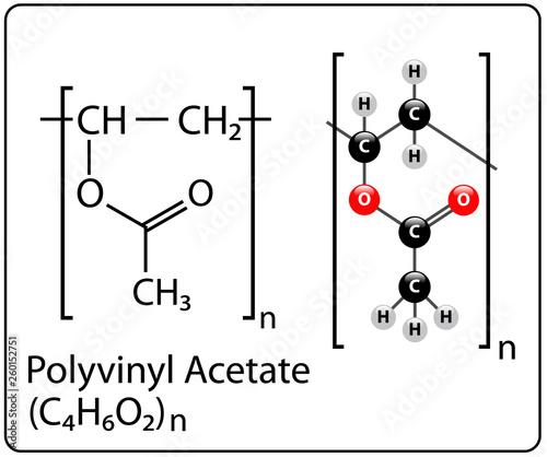 Polyvinyl Acetate Molecule Structure Canvas Print
