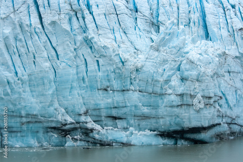 Valokuva  Striations on The Face of Margerie Glacier, Alaska