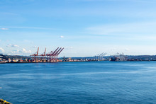 Harbor Island In The Industrial District And Port In Seattle, Washington.