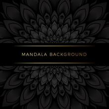 Premium Black Mandala Background