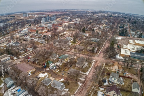 Fotografie, Obraz  Dell Rapids is a small Town in Eastern affected by the 2019 Flooding of the Big