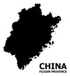 Vector Flat Map of Fujian Province with Caption