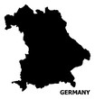 Vector Flat Map of Germany with Name