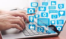 Using Laptop For Social Media....