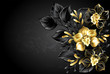 Black background with black orchid