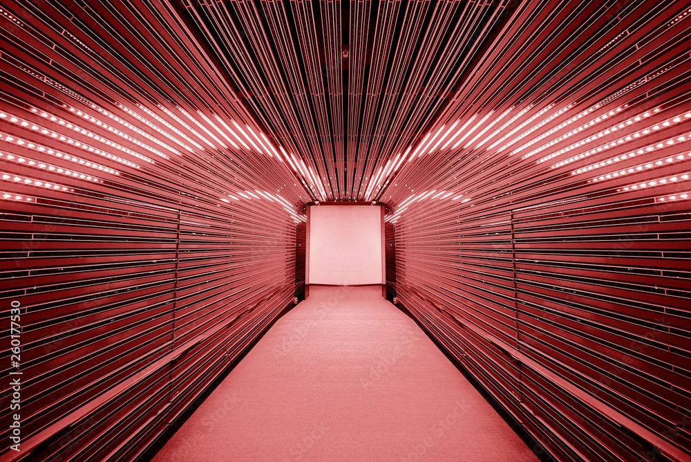 Fototapeta Futuristic tunnel interior background