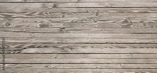 Poster Retro Horizontal wood textured background. Wooden planks on a wall or floor with grain and texture.
