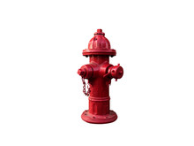 Old Fire Department Connection Isolated On White Background With Clipping Path.