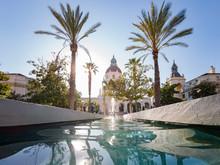 Afternoon View Of The Beautiful Pasadena City Hall At Los Angeles, California