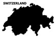 Vector Flat Map of Switzerland with Caption
