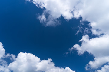 Fototapeta Niebo Blue sky and white clouds abstract background.