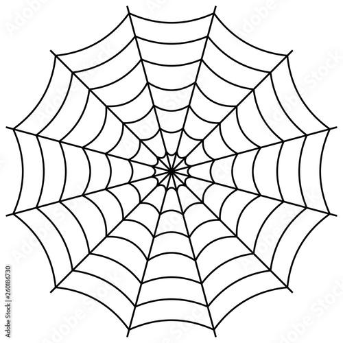 Fotografie, Obraz Round spider web, cobweb vector symbol sign of confusion and a network of trap
