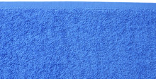 Blue Beach Towel Texture. Blue Beach Towel Background. Top View.