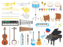 楽器のイラストセット