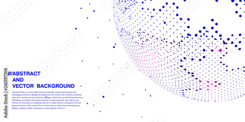 Fototapeta World map concept, artificial intelligence and internet big data, virtual technology obraz