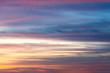 Colorful sky at sunset. .After the sun is below the horizon at tropical island the sky showing stunning twilight.