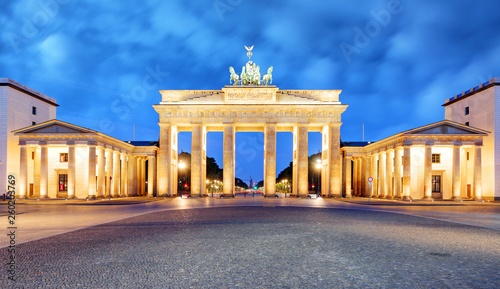 Recess Fitting Panorama Photos Brandenburg Gate of Berlin, Germany