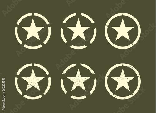 Set of U.S Military stars