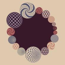 Fantasy Circular Frame With Ge...