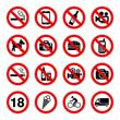 zestaw znaków zakazu