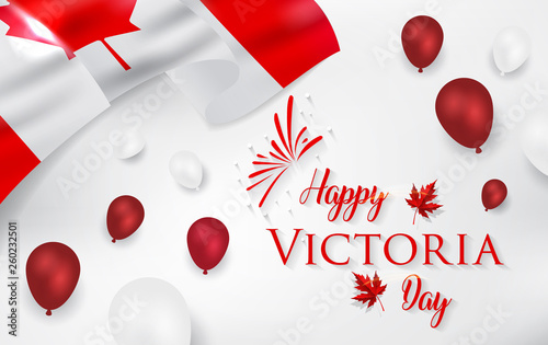 Carta da parati Happy Victoria Day - Victoria Day icon with Canada flag and crown
