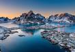 canvas print picture - Magie auf den Lofoten Inseln