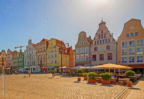 Fotomural Rostock Marktplatz Sommer