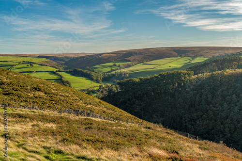 Aluminium Prints Landscapes Landscape in the Exmoor National Park near Malmsmead, Devon, England, UK