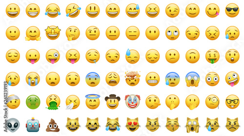 Emoji set icons bor apps фототапет