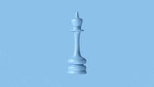 Pale Blue Chess Queen Piece 3d Illustration 3d Rendering