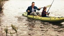 Father And Son Enjoying Fishin...