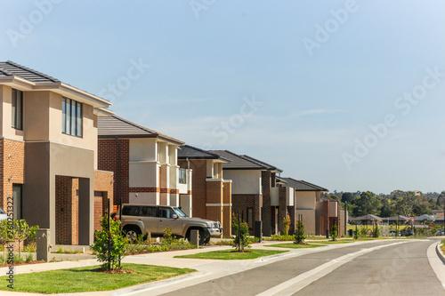 Photo New housing estate in Australia growing city Melbourne