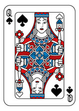 A Playing Card Queen Of Spades...