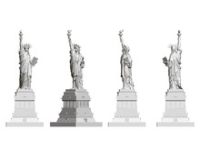 Set With A Statue Of Liberty. ...
