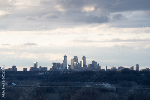 Minneapolis Skyline Billede på lærred