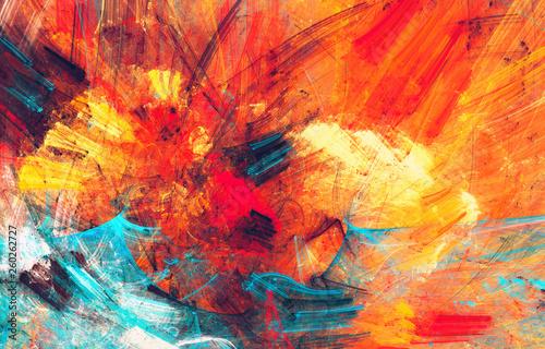 Fotografia  Bright artistic splashes
