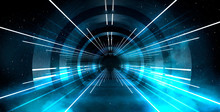 Abstract Tunnel, Corridor With...