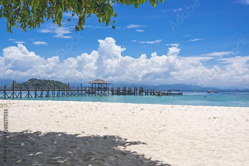 Beach on the Manukan Island, Sabah, Malaysia. Wallpaper Mural