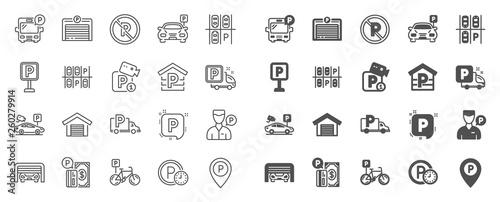 Obraz na plátně Parking line icons