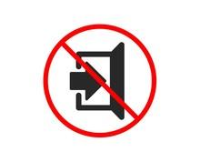 No Or Stop. Exit Icon. Open Door Sign. Entrance Symbol With Arrow. Prohibited Ban Stop Symbol. No Exit Icon. Vector